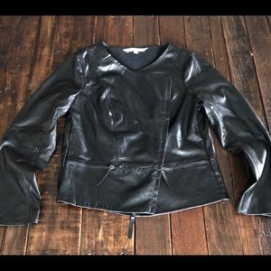 🌹Max Studio Faux Leather Jacket Sz L